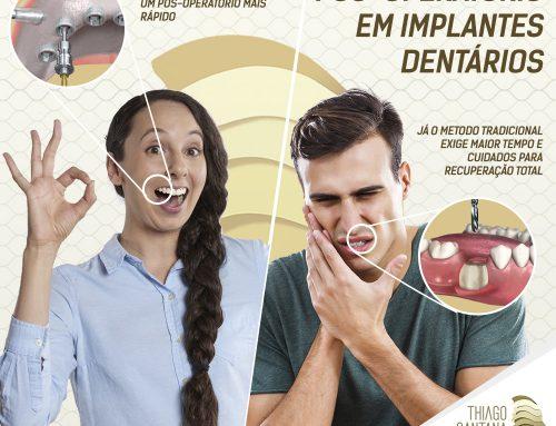Pós operatório em implante dentário: Entenda tudo o que você precisa!